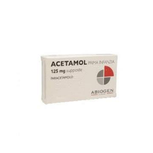 Acetamol Supposte Lattanti 125 mg 10 Supposte
