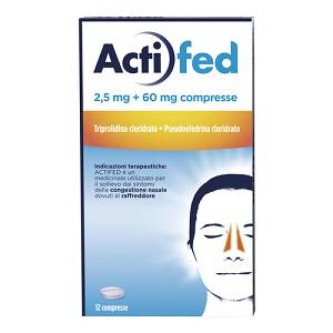 Actifed 2,5 mg + 60 mg cpr