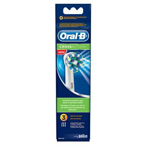 Oral-B Crossaction Testine Ricambio 3 Pezzi